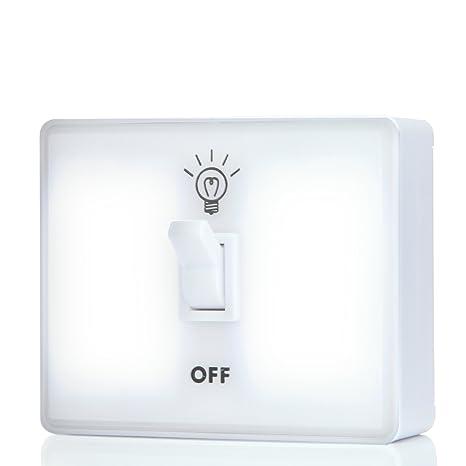 Icoolcube Ls0017 White Led Night Light Switch Wireless Battery