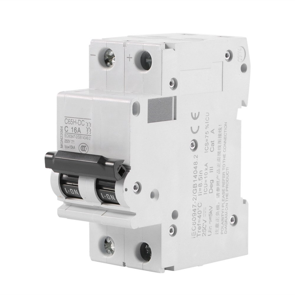 C65H-DC 2P 16A Low-voltage Miniature Circuit Breaker AC 250V 2-Pole Circuit  Breaker Air Switch - - Amazon.com