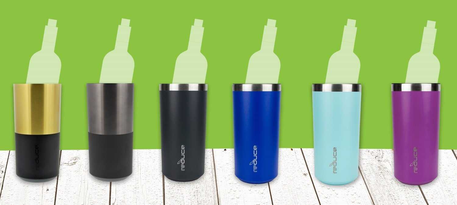 Portable Wine Bottle Cooler by REDUCE - Stainless Steel, Insulated Chiller to Keep Wine at the Perfect Temperature, No Ice Required - Ideal for Outdoor Summer Parties, Fits Most Wine Bottles - Mint by REDUCE (Image #5)