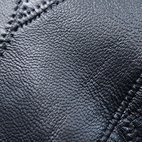 Hombro Wild remaches coreano versión color sólido bolsos, negro negro