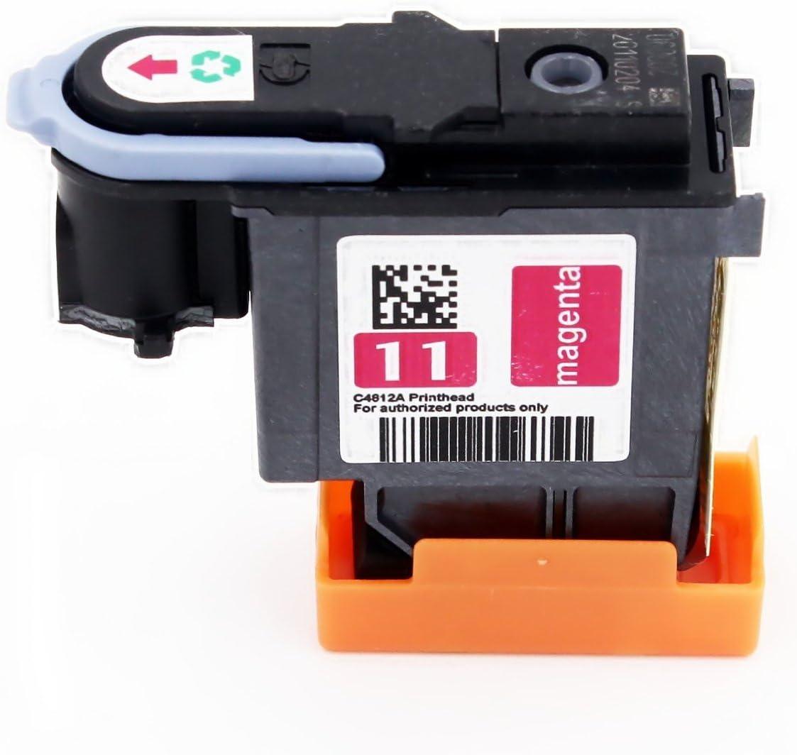yatunink 1 Pack (1 cabezal de impresión magenta) 11 de repuesto para HP 11 Cabezal de impresión C4812 A trabajo con HP DesignJet 510 1067 mm Impresora (ch337 a) (cj997 a) Designjet