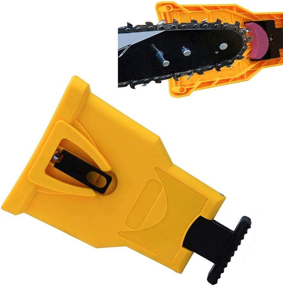 Afilador de dientes para motosierra, piedra de afilado rápido, herramientas de afilador de dientes universal para motosierra, herramientas de cadena de rectificado rápido