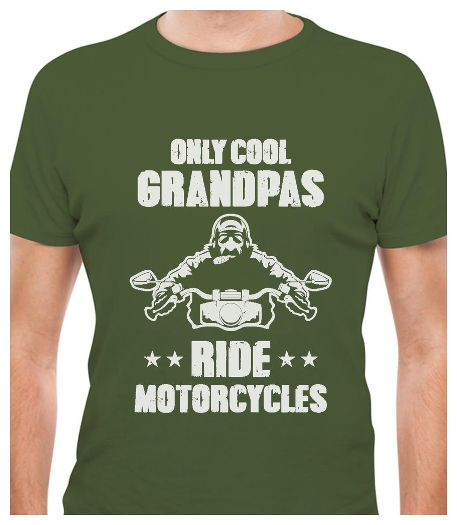TeeStars Only Cool Grandpas Ride Motorcycles - Gift for Biker Papa T-Shirt GM03ZPgW