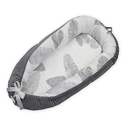 Hamkaw Cama Nido de Bebé Extraíble, Baby Nest Reductor Protector Portátil, Cuna de Viaje, para Dormir y Descansar (0-2 Año)
