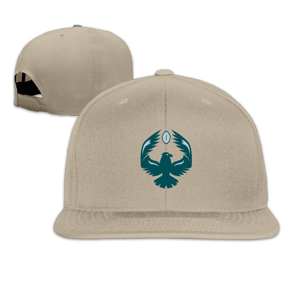 Bald Eagle Logo Playing The Football Unisex Flat Brim Baseball Hats 100/% Cotton Adjustable Hip Hop Caps