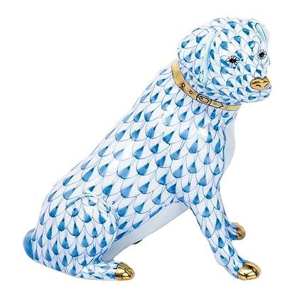 Amazon com: Herend Figurine Labrador Retriever Dog Blue Fishnet