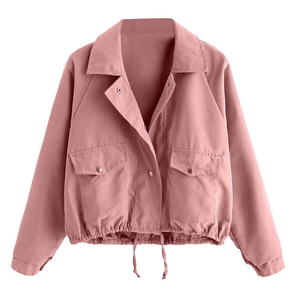 Jackets for Women Clearance Short Button Coat Pocket Jacket Cardigan Jumoer Blouse Outwear