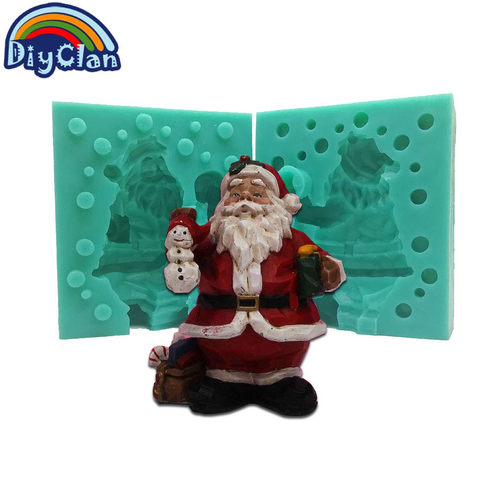 Santa Candle 3D Christmas Santa Claus Silicone Mold New Handmade Polymer Clay Candle Molds Candle Shape Soap Form Decorative Tools Xmas Gift