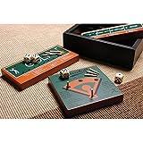 Profile Gifts 6 Classic American Sports Wood Board Peg Game - Football, Basketball, Baseball, Golf, Bowling, Tennis - Mini Travel Set