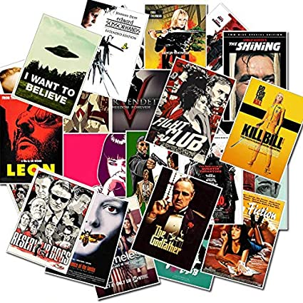 Lot of 6 Classic Movies Vinyl Stickers