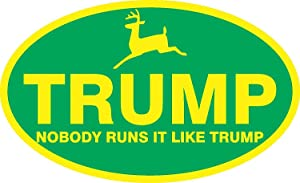 Trump Deere Support Sticker Farmer MAGA Election Political Window Bumper Decal 5""