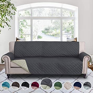 RHF Reversible Cover for Extra-Wide Couch, Sofa Cover, Extra-Wide Couch Cover for Dogs, Extra-Wide Couch Covers for Pets, Couch Slipcover, Machine ...