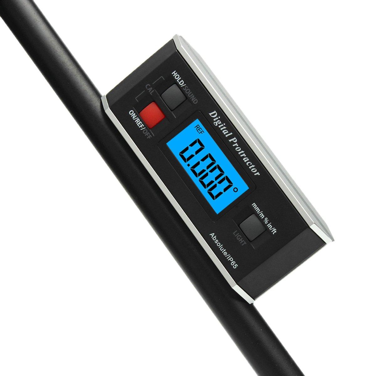 Digital Protractor Inclinometer V Groove Angle Finder Meter Gauge Construction