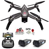 MJX Bugs 5W B5W FPV RC Drone with Camera Live Video GPS Smart Return Quadcopter with 5G 1080P HD WiFi Camera and Follow Me Altitude Hold Headless Mode Track Flight Point of Interest Flying (B5W-Gray)