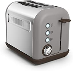 Morphy Richards 222005EE Accents Toaster 2 Schlitz Kiesel, pebble
