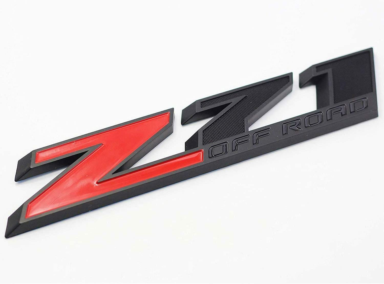 2Pcs 10 Inch Big Red And Black Z71 Off Road Fender Tailgate Emblem Badge Sticker Replacement For Sierra Chevy Silverado Tahoe Suburban
