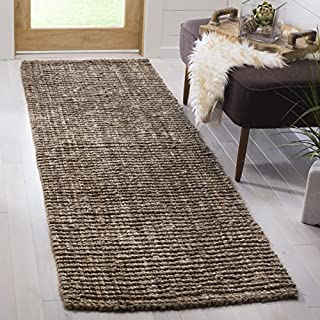 "Safavieh Natural Fiber Collection NF447M Hand Woven Natural and Grey Jute Runner (2'6"" x 6') (B01N4DUKBG) 