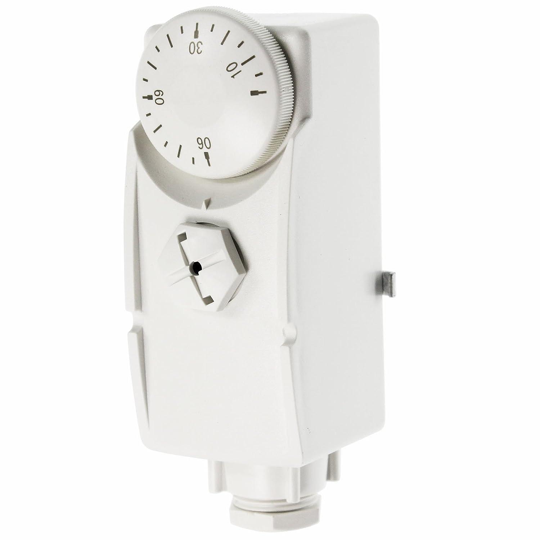 Spares2go pcs Tps1 type de cylindre de l'eau chaude ou Ré servoir Tuyau Thermostat + sangle pour plancher chauffant