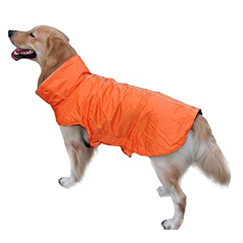 Voberry Universal Waterproof Fleece Pet Dog Outdoor Winter Padded Vest Jacket Coat (L, Orange