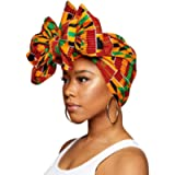 Traditional African Print Wax Kente Head Wrap Extra Long 72x22' Scarf Turban Tie