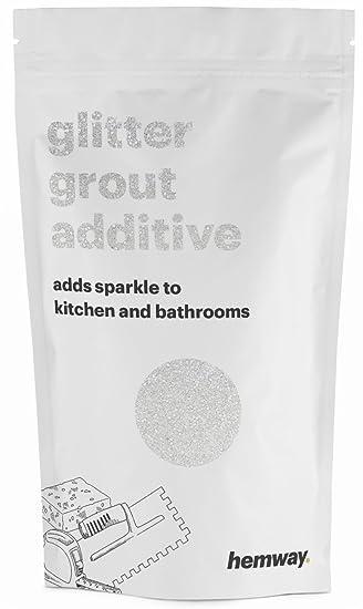 Hemway (White) Glitter Grout Tile Additive 100g For Tiles Bathroom Wet Room  Kitchen |