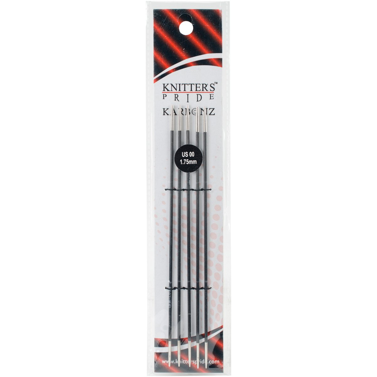 3.00mm 110109 Knitters Pride Karbonz Double Pointed 6 inch 15cm Knitting Needles Size US 2.50