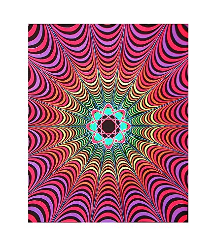 Opticz Infinity Atom Blacklight Reactive Cloth Wall Hanging