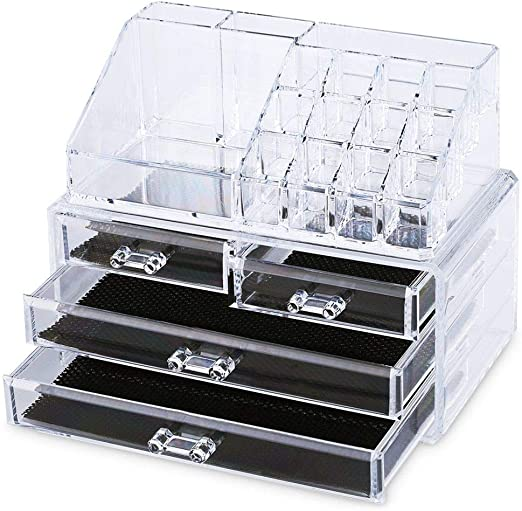 Caja organizadora de acrílico transparente con cajones para ...