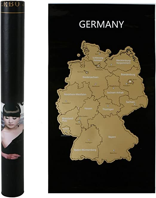 Annastore Deutschland Karte Zum Rubbeln 80 X 45 Cm Landkarte Zum