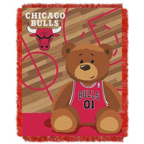 Northwest NBA Chicago Bulls Half Court Woven Jacquard Baby 36x46