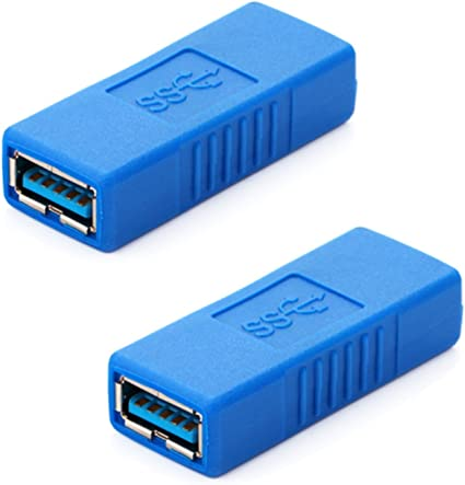 USB 2.0 Type A Female to Female Adapter Coupler Gender Changer Connector RhBHCA