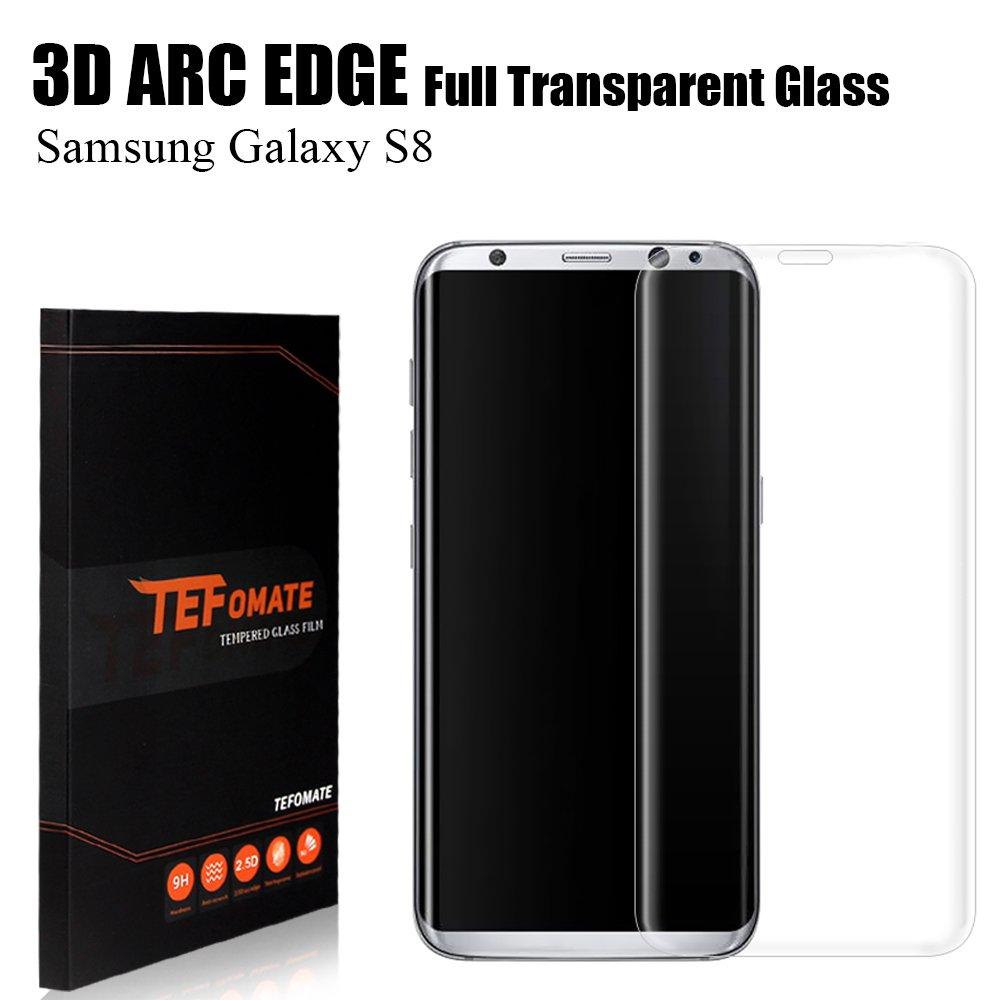 Protector de Pantalla Samsung Galaxy S8, TEFOMATE Vidrio Templado Protector de Pantalla Completa Tempered Glass Screen Protector para Galaxy S8 5.7