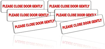 2 x Please Shut Door Gently Decal UBER LYFT TAXI RIDESHARE Sticker car