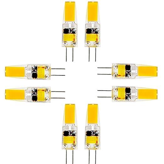 Bombilla LED G4 Leuchtmittel 3 W 250 lúmenes, 2800 K blanco cálido LED COB, equivalentes a ...