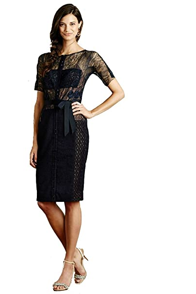 a9a6930ef737 New Anthropologie Carissima Sheath Dress From Beguile by Byron Lars (Navy,  Size 10)
