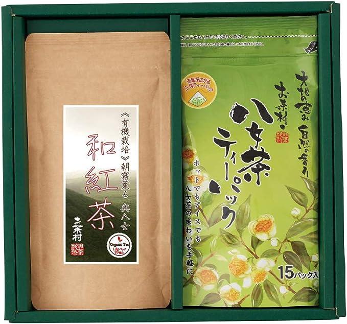 お茶村 和紅茶ティーパック・八女茶ティーパック 詰め合わせ 2本入り ギフト