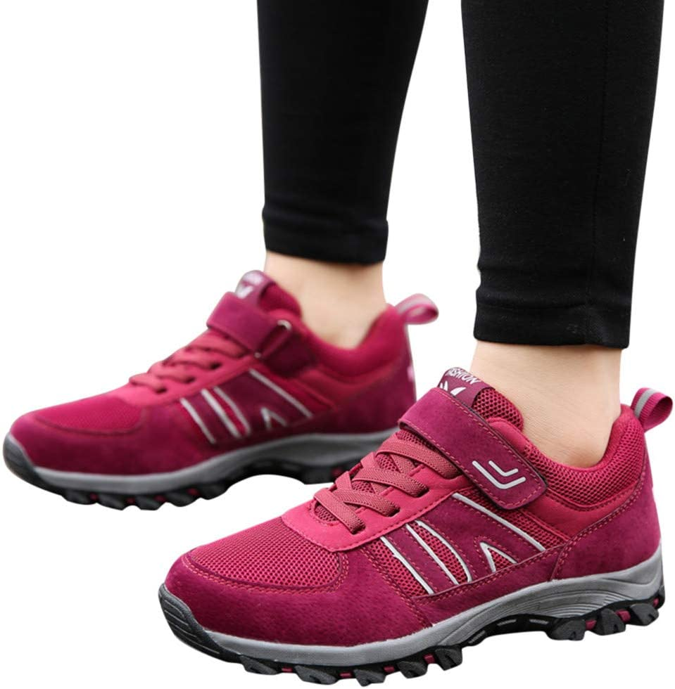 Ladies Mesh Breathable Non-Slip Running Shoes Sports Walking Shoes