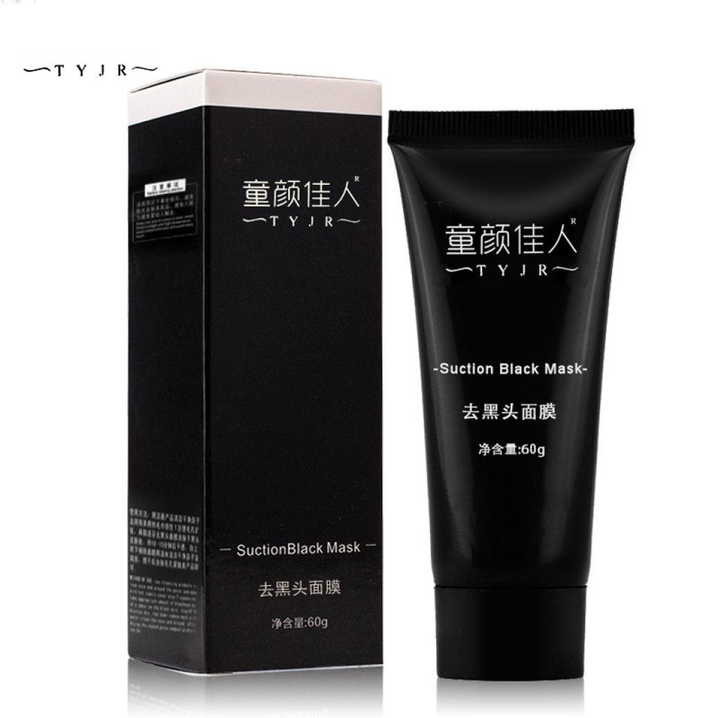 Start Skin Cleansing Mineral Mud Mask : Blackhead Remover Acne Cleaner Purifying Deep Cleansing Peel Mask for All Skin Types (TYJR) (Black)