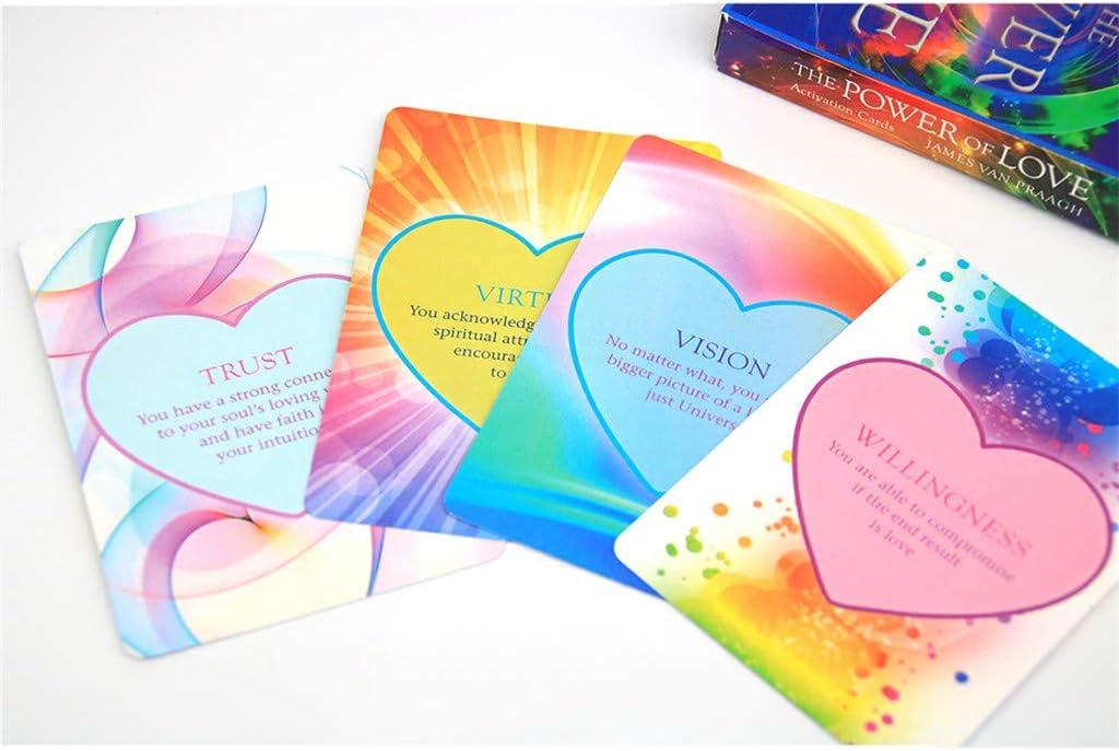 Oracle De Divination De Deck WRU Wrubxvcd The Power of Love Activation Tarot 44 Cards Deck Divination Oracle Playing Card44 Cartes Tarot Dactivation De La Puissance De lamour Carte /À Jouer