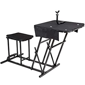 Goplus Portable Shooting Table Bench Seat Review