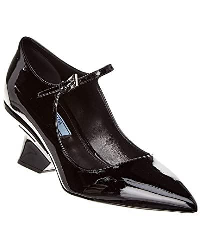 226df3629 Image Unavailable. Image not available for. Color: Prada Pointy-Toe Patent  Mary Jane Pump, 40, Black