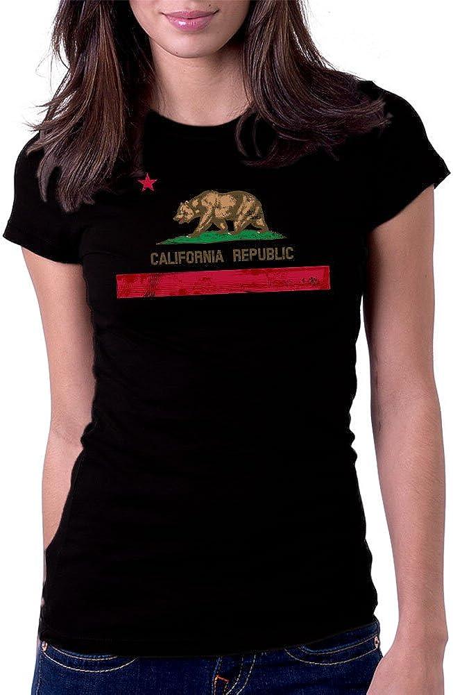 U.S Polo Assn Womens Cotton Jersey T-Shirt with California Republic Logo Print