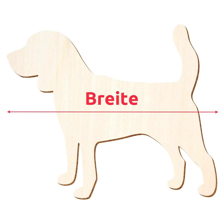 Holz Hund Beagle - - - 3-50cm Breite - Basteln Deko, Pack mit 100 Stück, Größe 13cm B07P7R37ZB | Verschiedene Arten und Stile  27a720