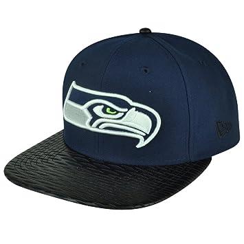 NFL New Era 9 FIFTY 950 piel Rip Seattle Seahawks gorra sombrero gorra  plana Bill 917d5d7a82d