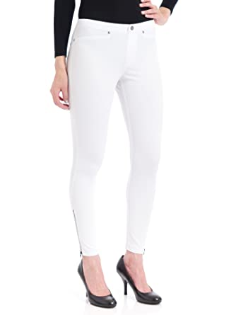 a1d96a1aa842d1 Hue Women's Super Smooth Denim Skimmer Leggings, White, Small at Amazon  Women's Clothing store:
