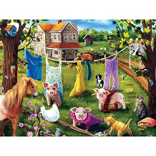 Bits and Pieces - 500 Piece Jigsaw Puzzle for Adults - Fashion Show - 500 pc Farm Animals Jigsaw by Artist Brook Faulder