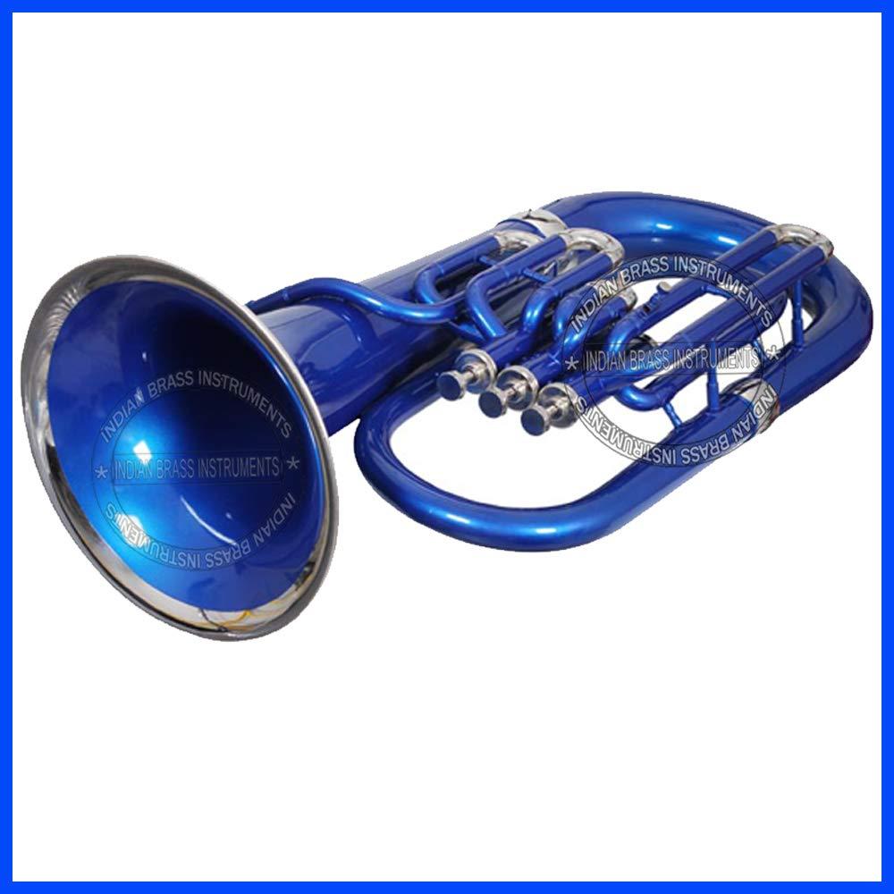 MOONFLAG Euphonium Blue + Nickel Bb 3 valve by NASIR ALI (Image #5)