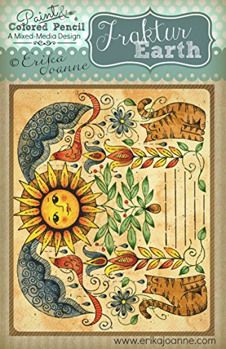 Fraktur Earth Mixed-Media Paint & Colored Pencil How to Pattern - Erika List