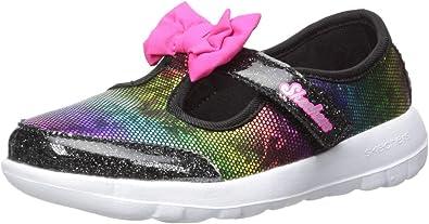 Infant Girls Skechers GOwalk Bittyflies T Strap Size 3 M