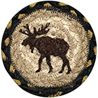 Earth Rugs 31-IC043M Moose Round Printed Coaster, 5